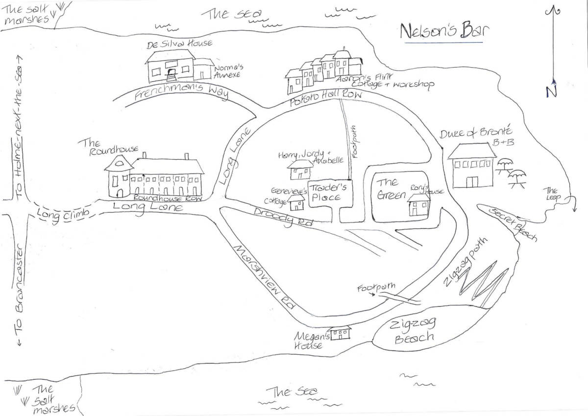 Nelson's Bar Map: More about Nelson's Bar - the books, the characters, the events and locations